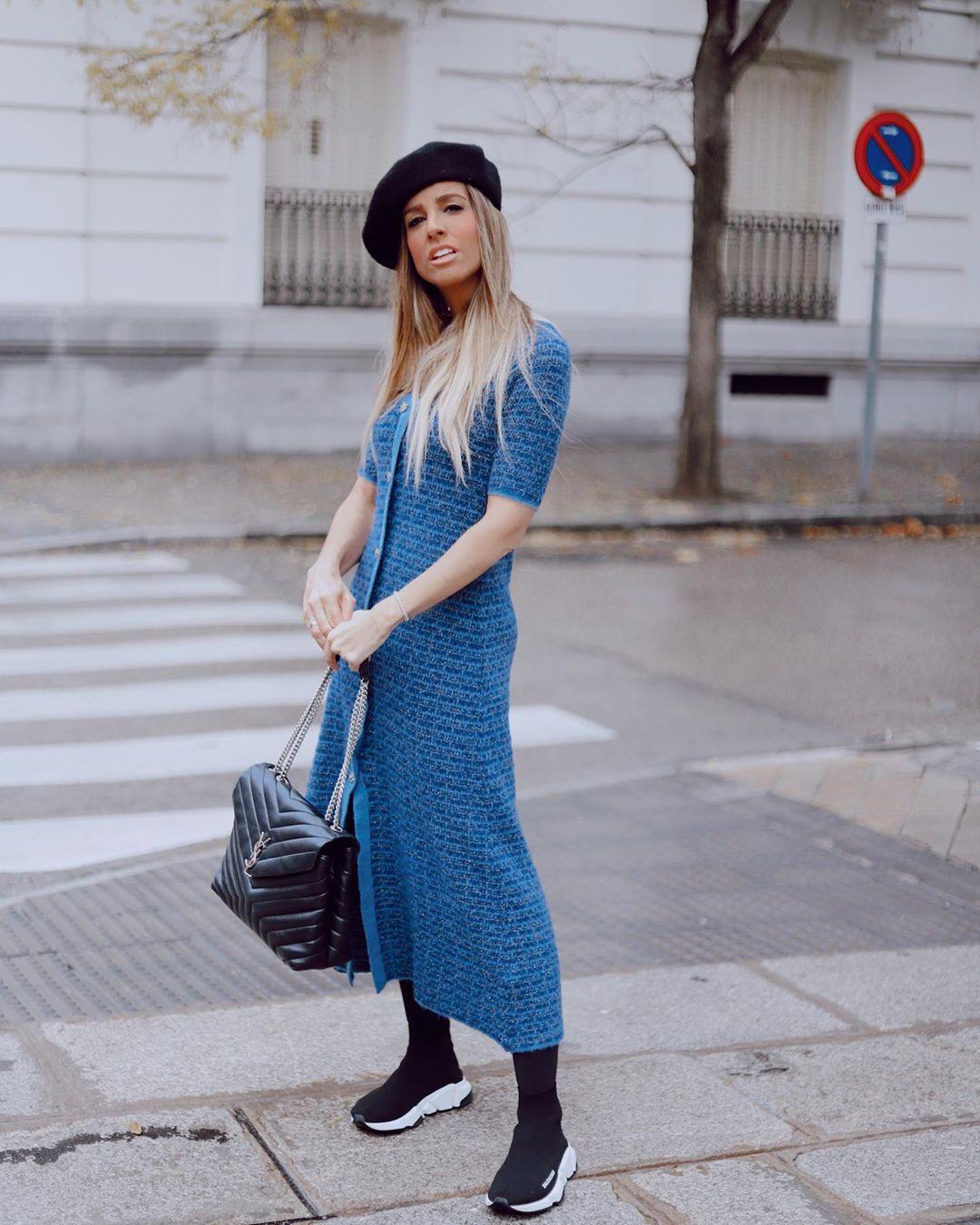 mesh dress with metallic thread de Zara sur lulandco