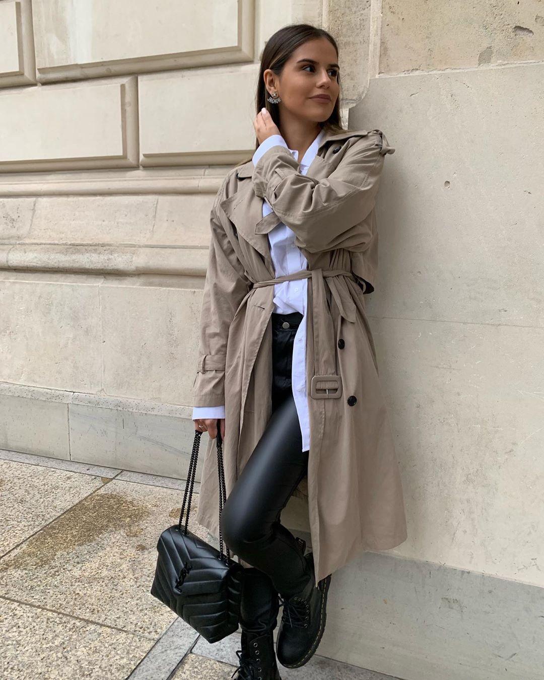 water-repellent button trench coat de Zara sur ezgilkyaz