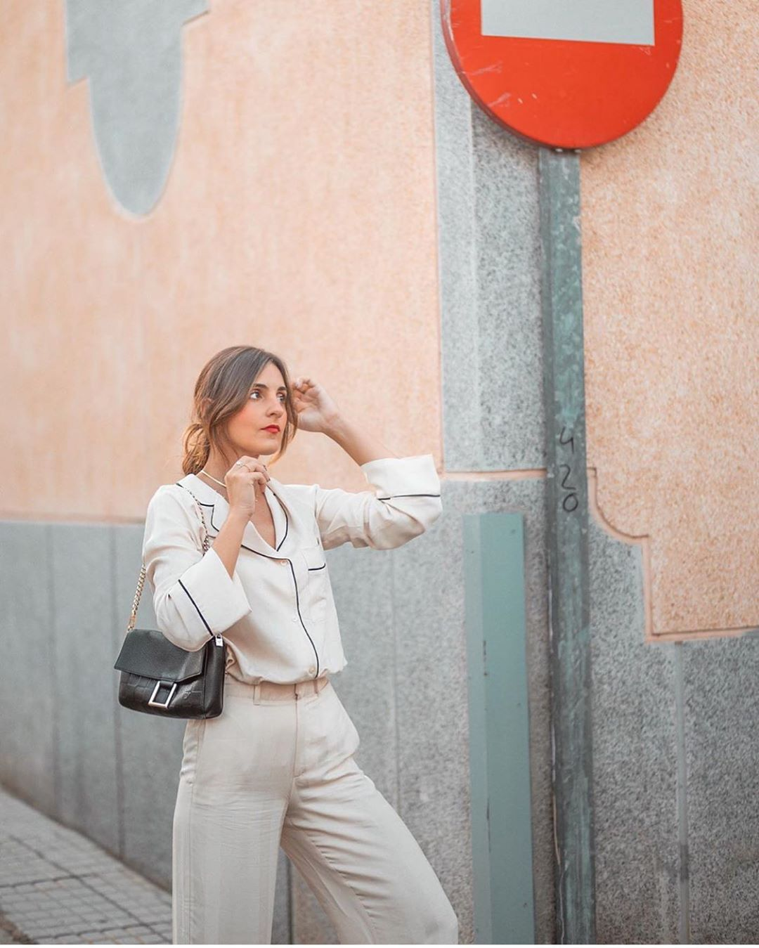 chemise style pyjama à contrastes de Zara sur zara.outfits