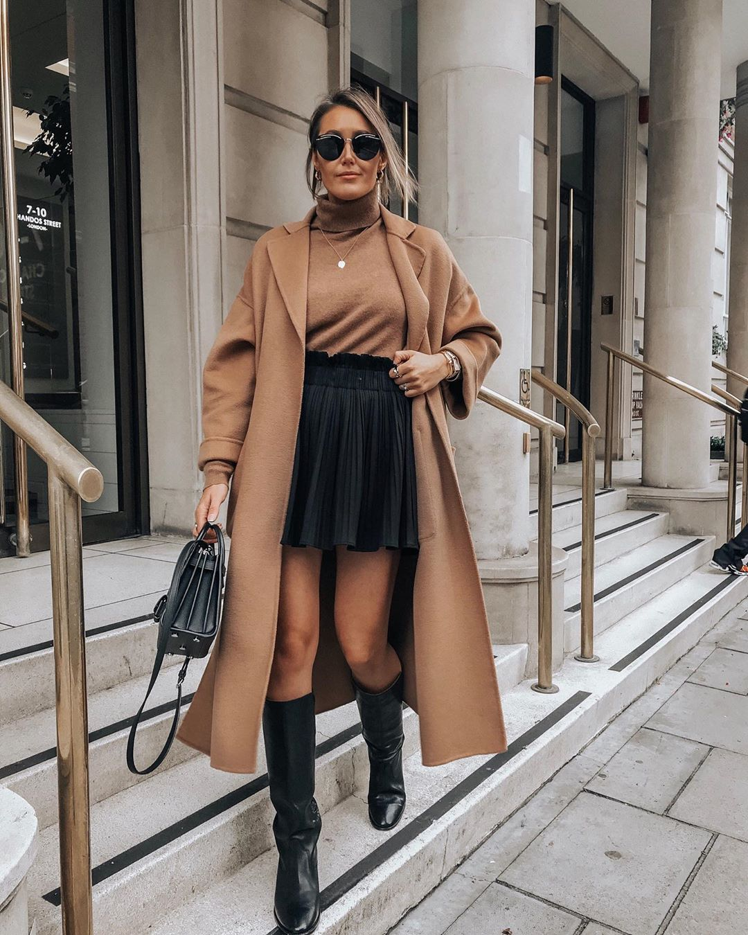 coat with patch pockets de Zara sur itsjustinesjournal