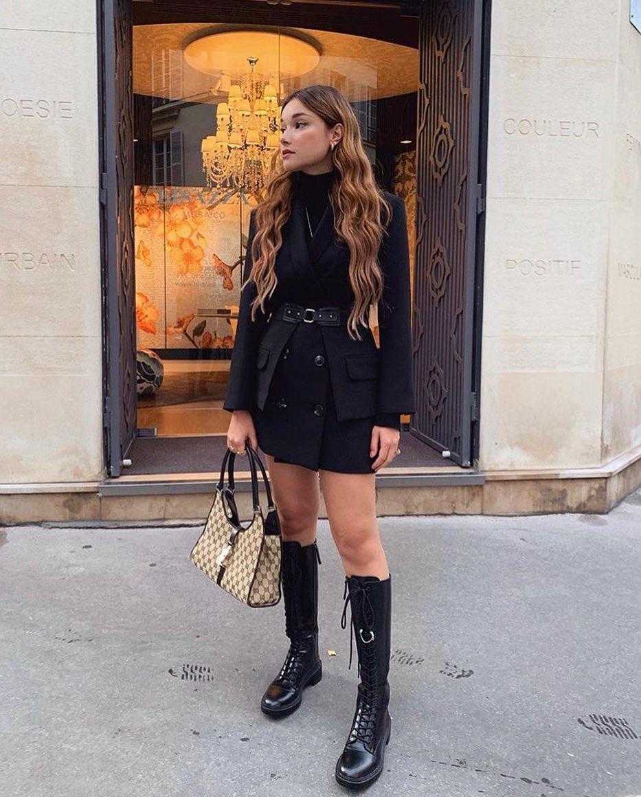 lace-up flat boots de Zara sur reccparis