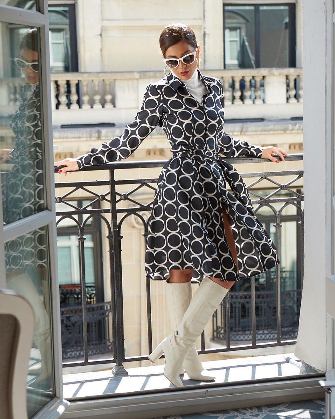 high heeled leather knee high boots de Zara sur shortstoriesandskirts