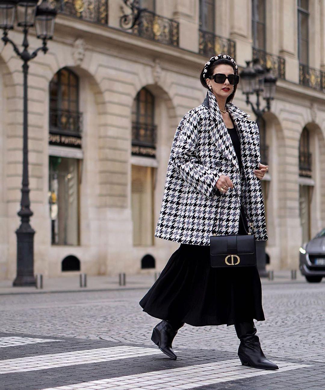 manteau oversize en jacquard de Zara sur zara.mania