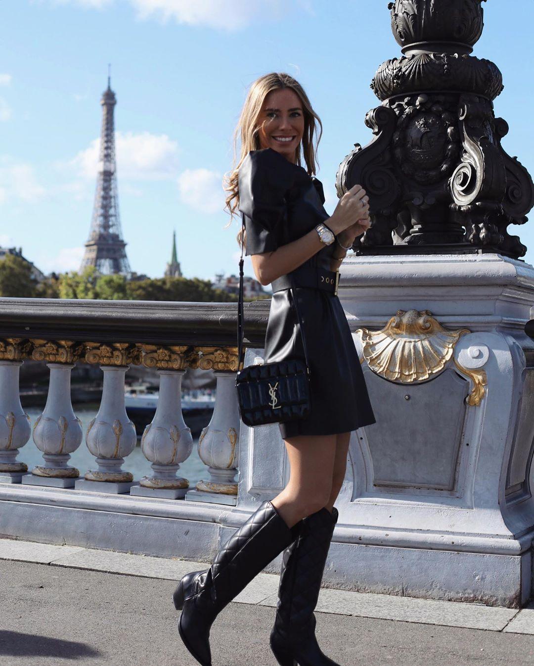 synthetic leather dress de Zara sur martacarriedo