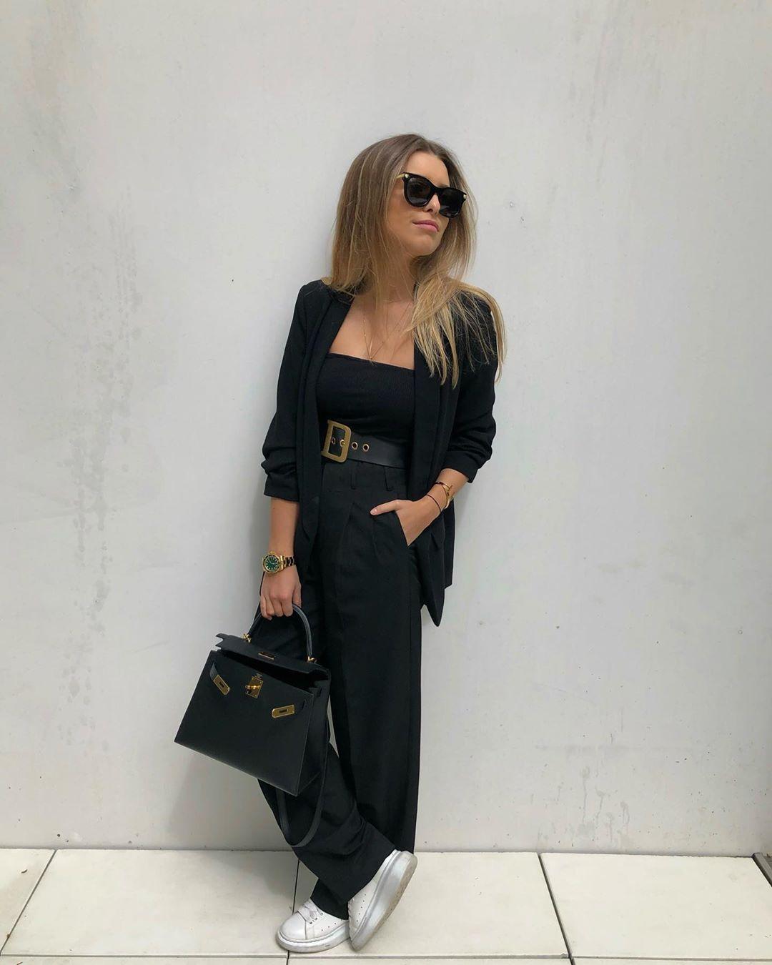 wide pant with clips de Zara sur florenceolette