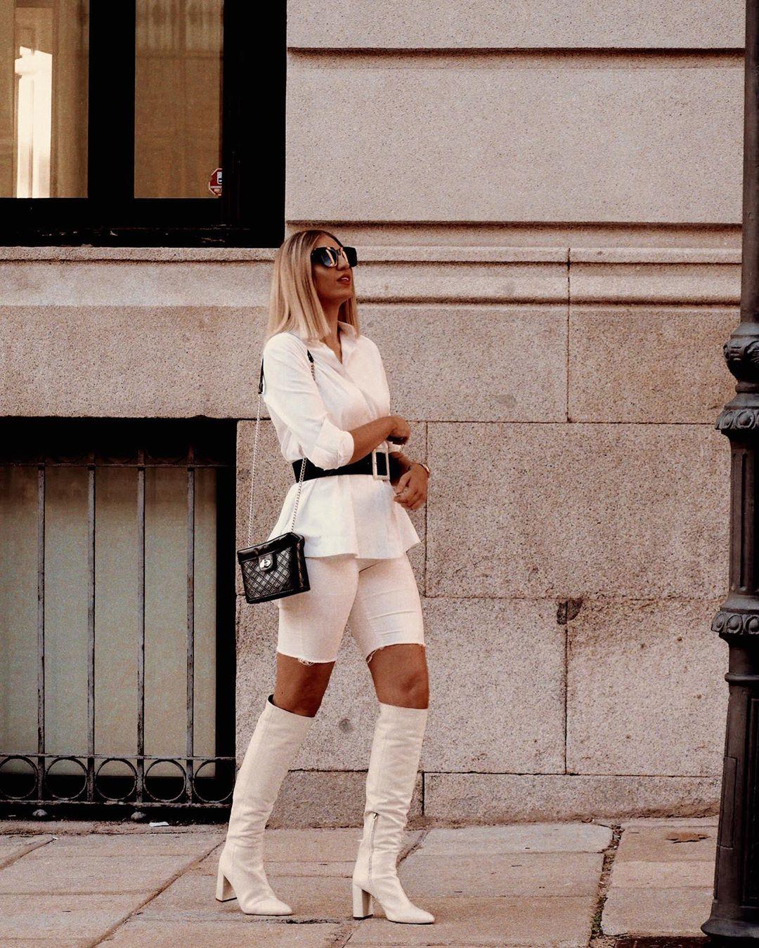 high heeled leather knee high boots de Zara sur sandra.aeme