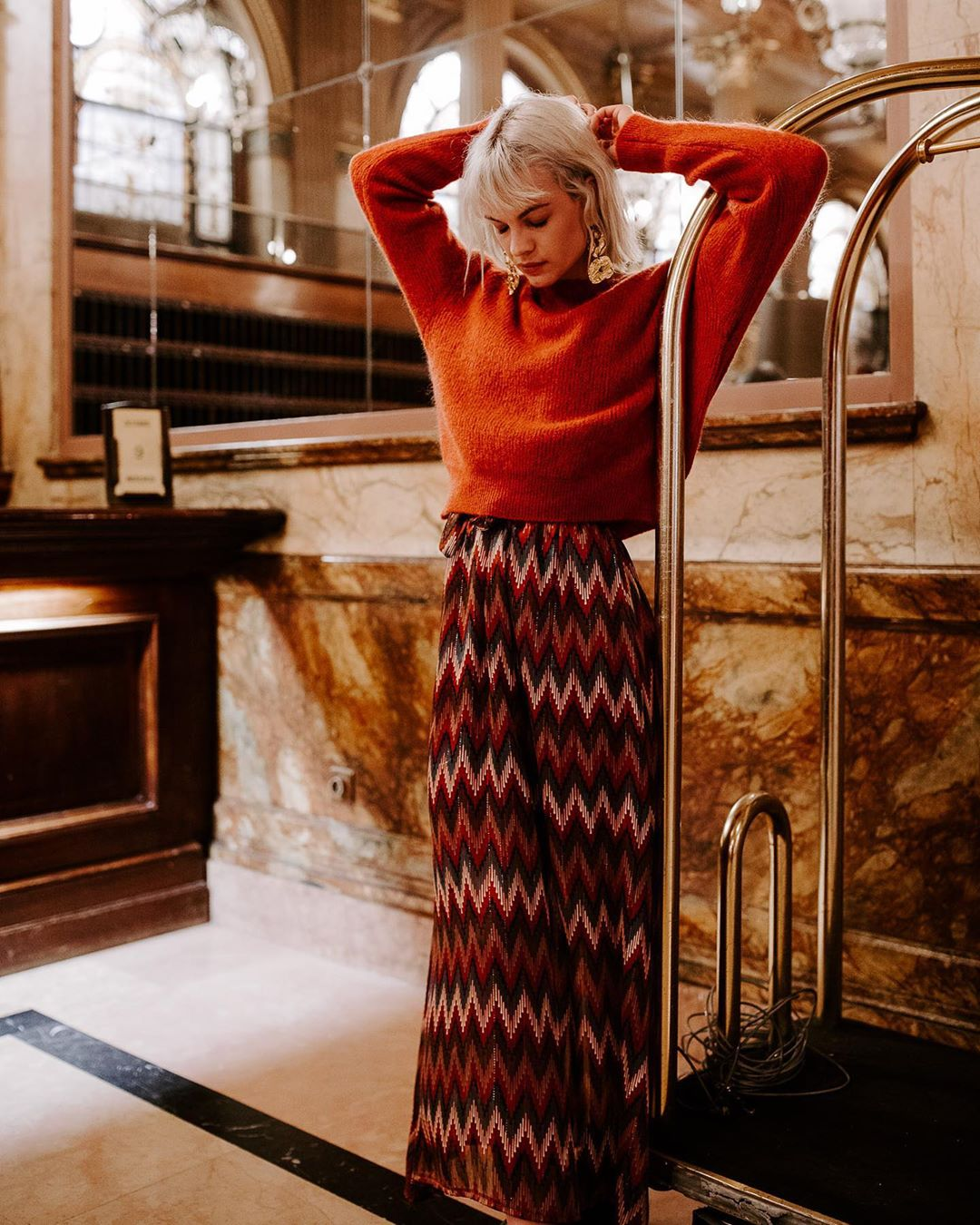 robe rouille geometrique de Les Bourgeoises sur lesbourgeoisesofficiel