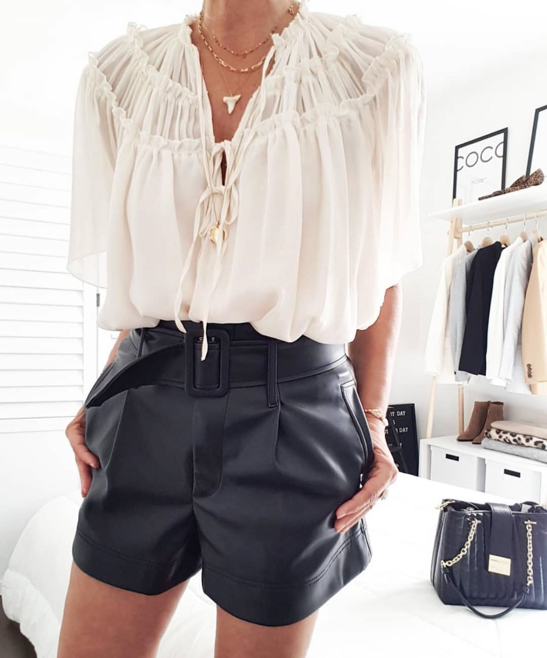 waistband shorts de Zara sur zaraaddiction