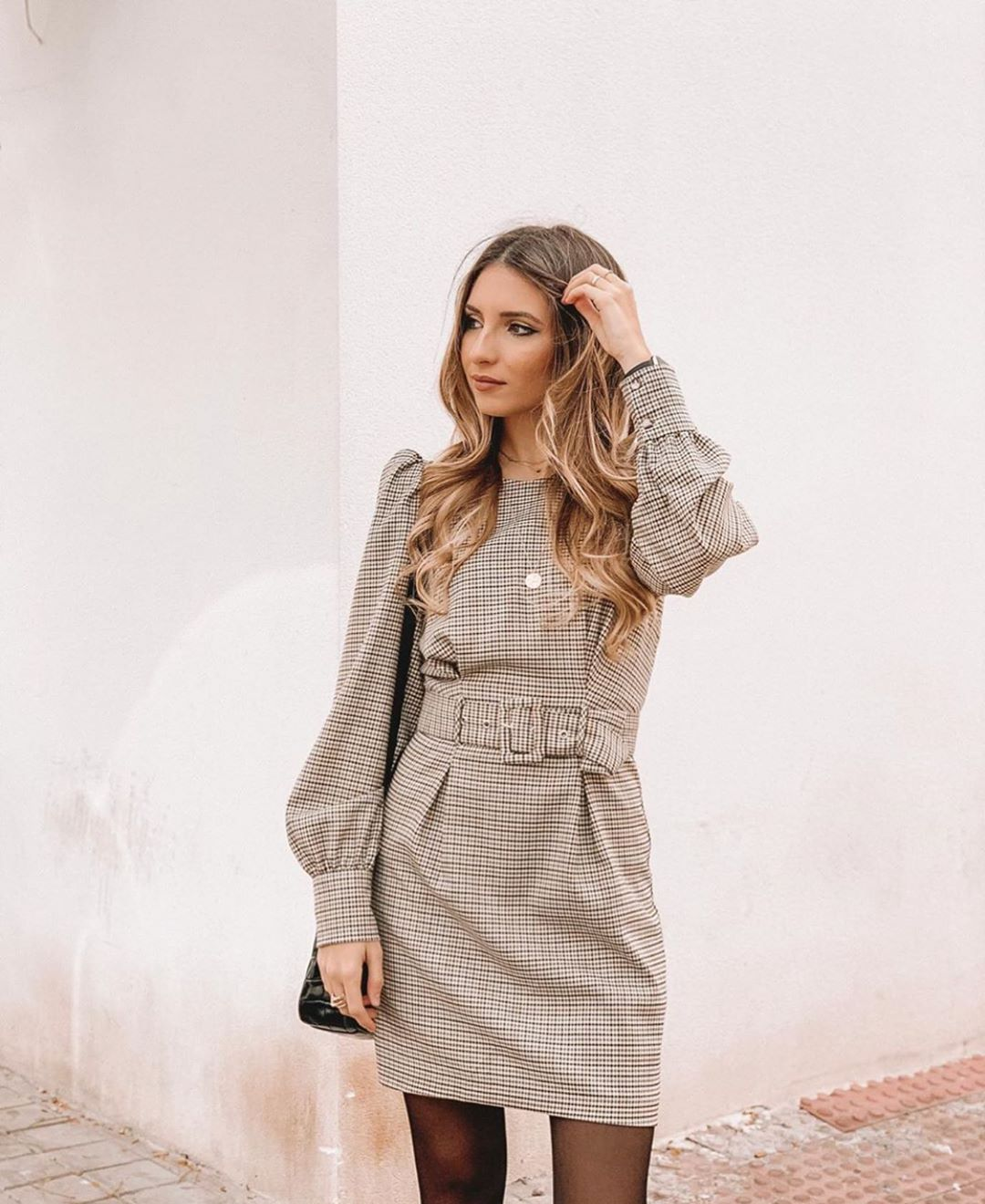 robe à carreaux volume de Zara sur zara.outfits