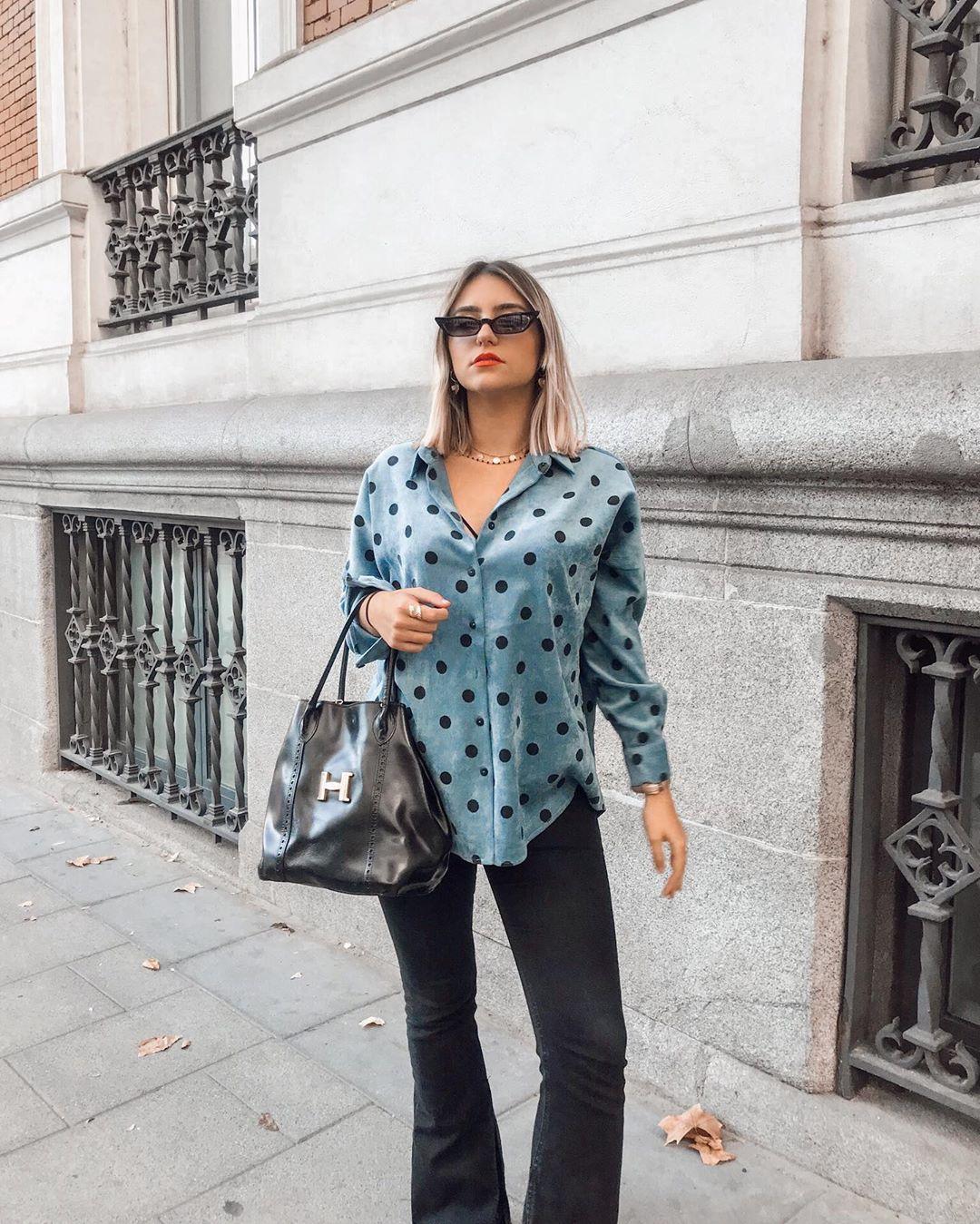 fine corduroy printed shirt de Zara sur lucia_pg