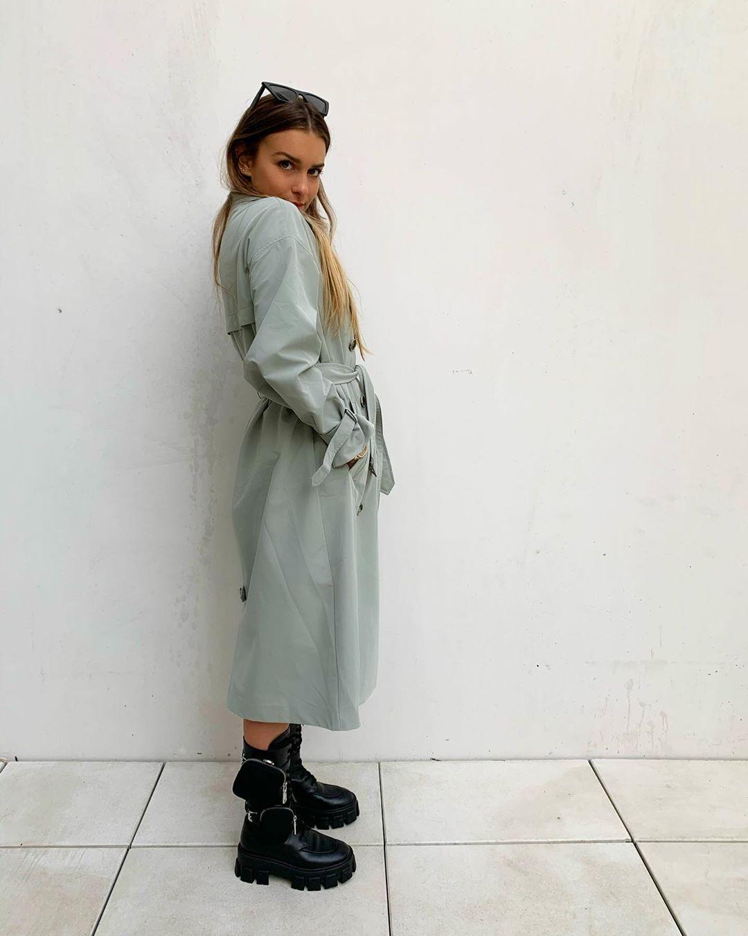 belted trench coat de Zara sur florenceolette