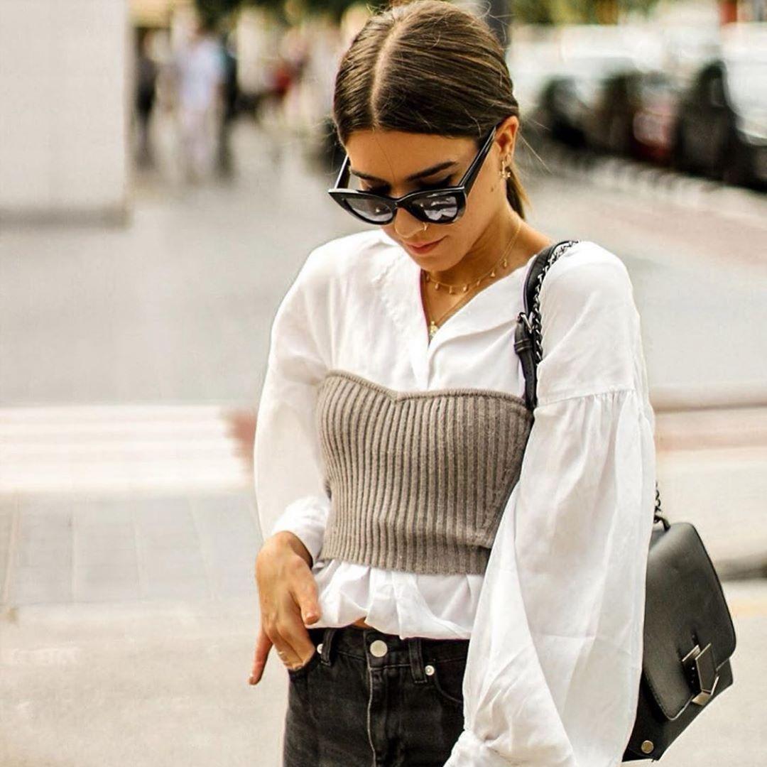 top en maille court de Zara sur zara.outfits