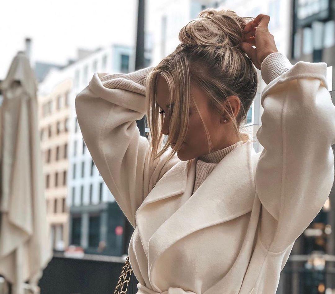 manteau à ceinture de Zara sur zara_streets