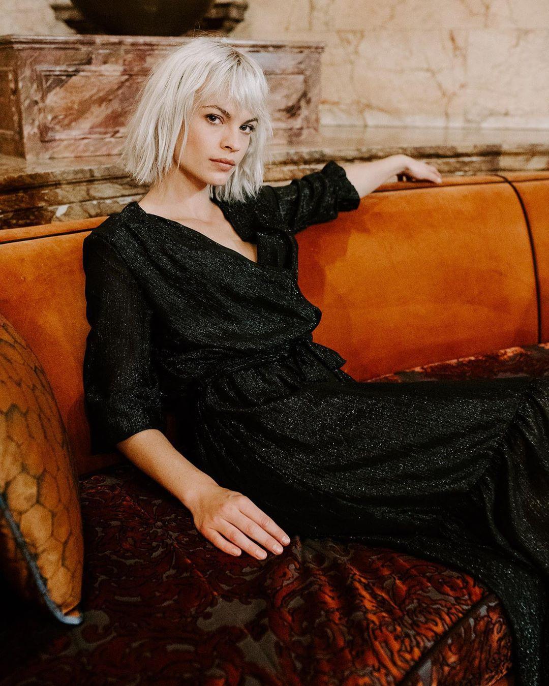longue robe noire lurex de Les Bourgeoises sur lesbourgeoisesofficiel