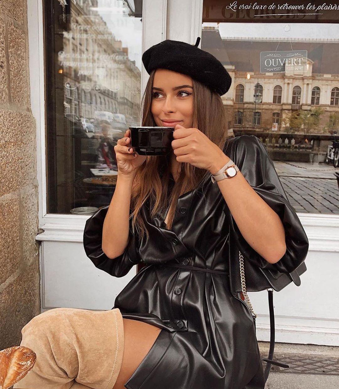 synthetic leather overshirt de Zara sur zarastreetstyle