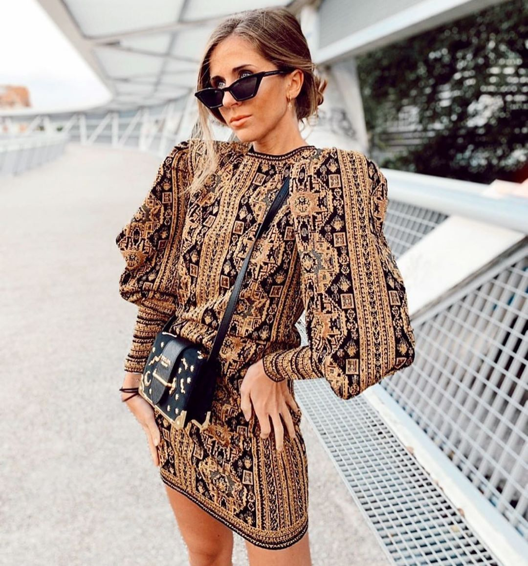 jacquard dress de Zara sur zaraaddiction