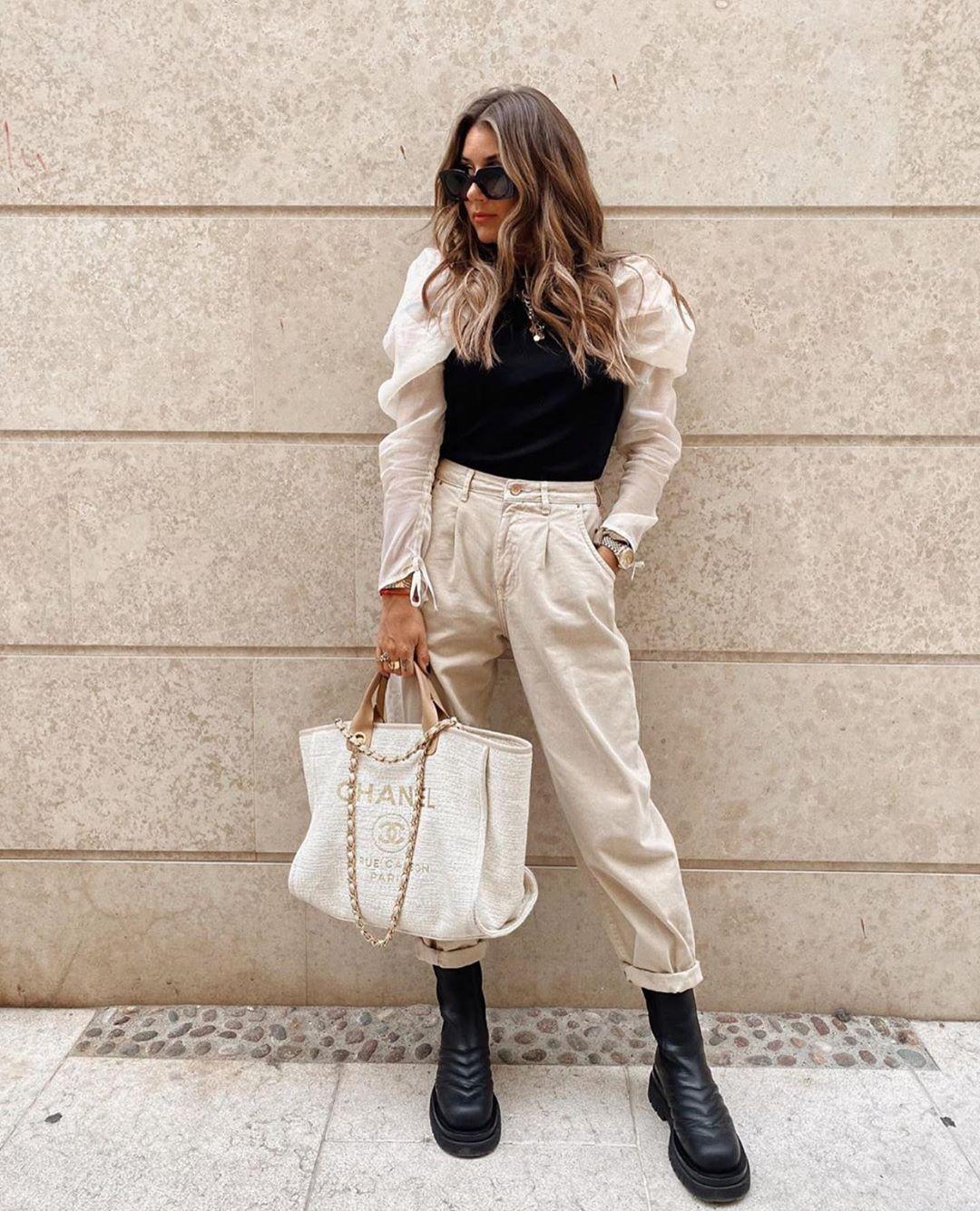 shaping high-waisted jeans de Zara sur zarastreetstyle