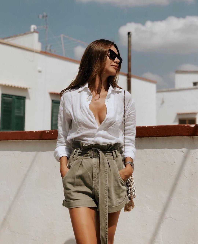 short à taille plissée de Zara sur zara.outfits