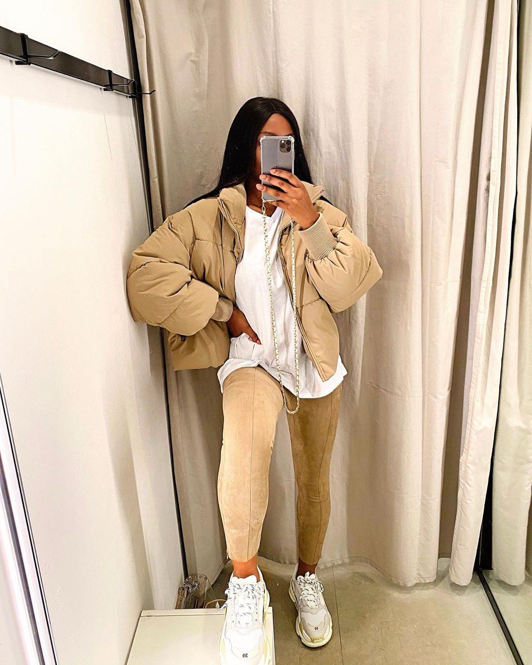 oversize padded jacket de Zara sur alieh.s_