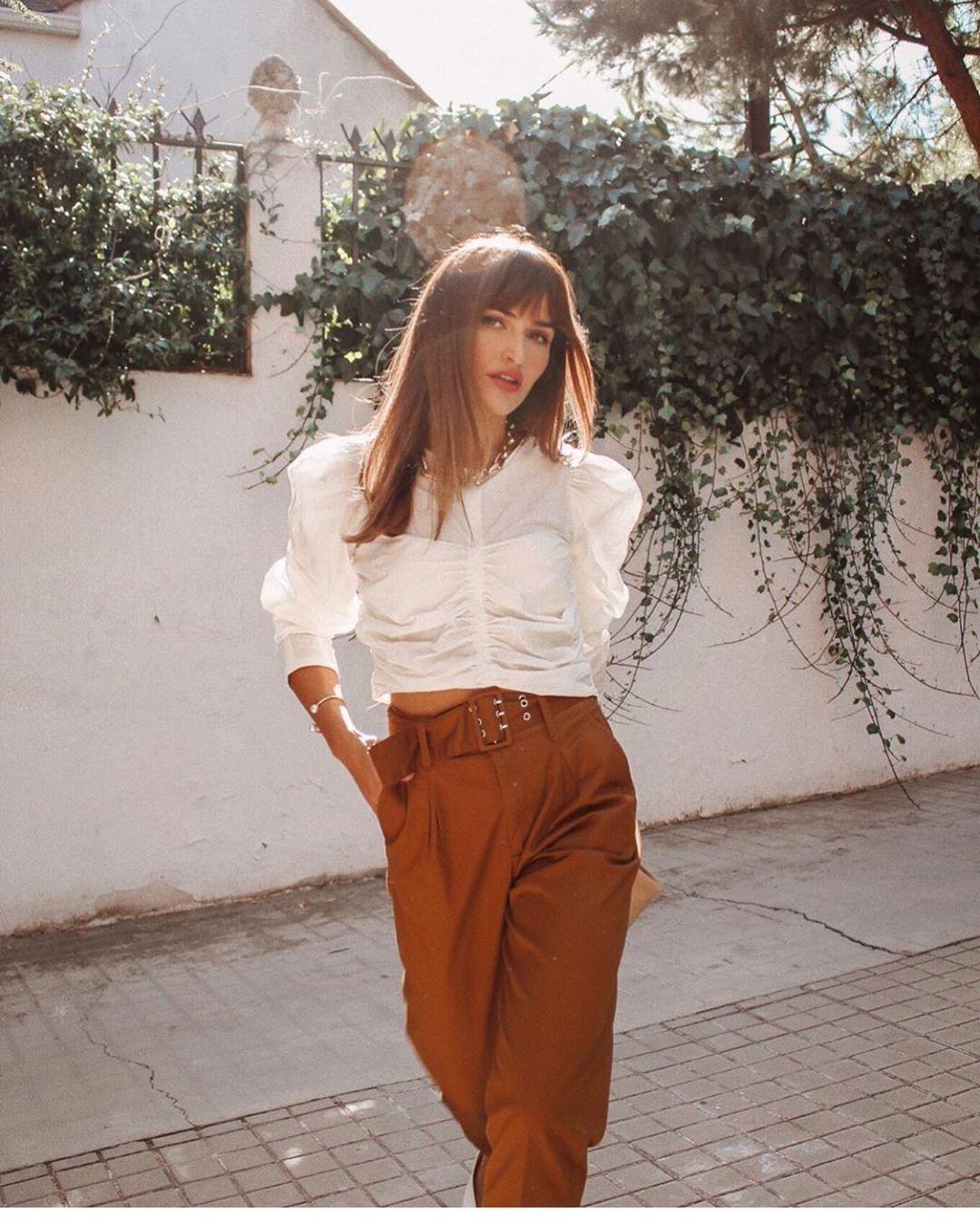 top en jacquard à fronces de Zara sur zara.outfits