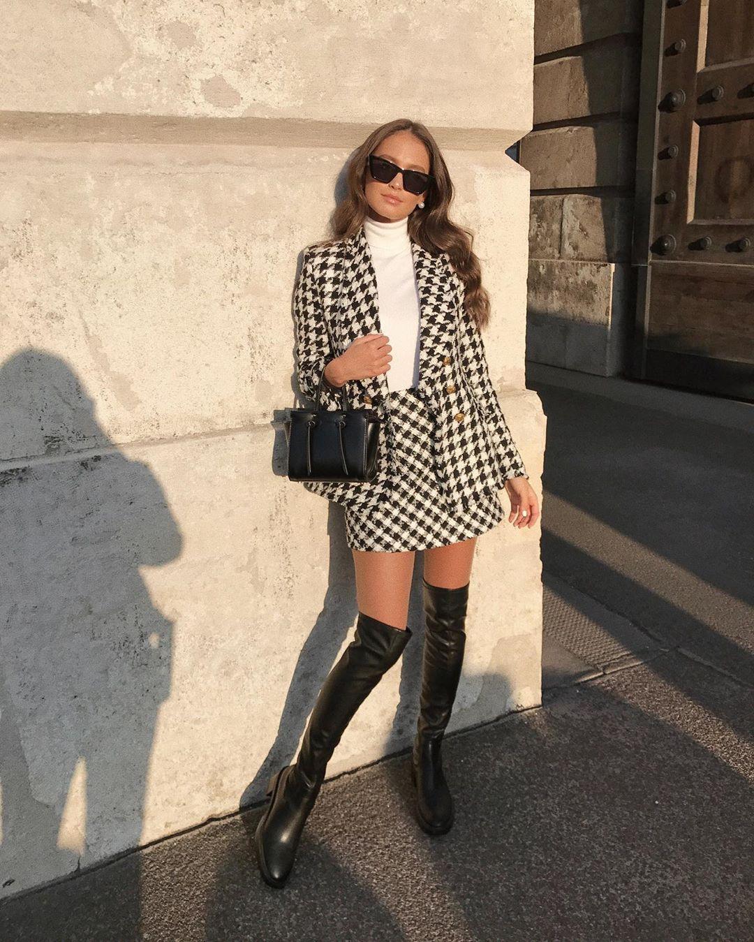 tweed mini skirt de Zara sur majamarko7