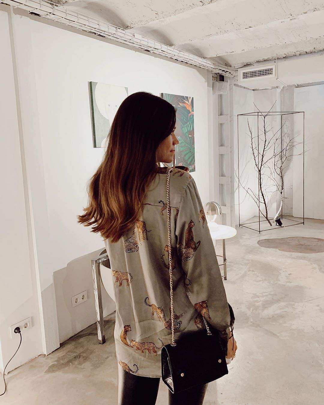 printed fluid shirt de Zara sur sandraandarias