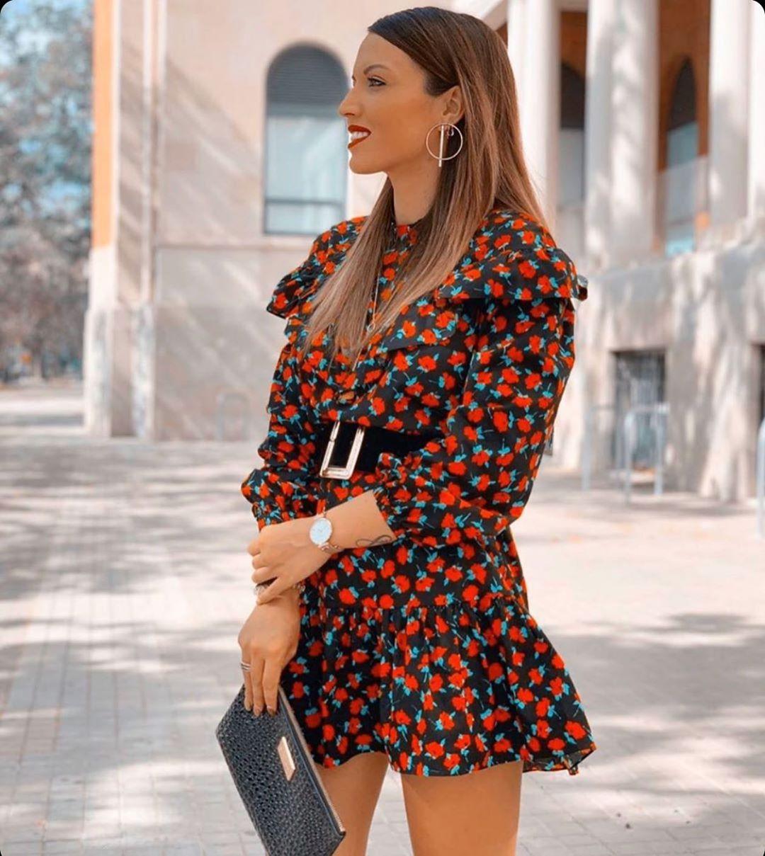 robe courte à volants de Zara sur zara.outfits