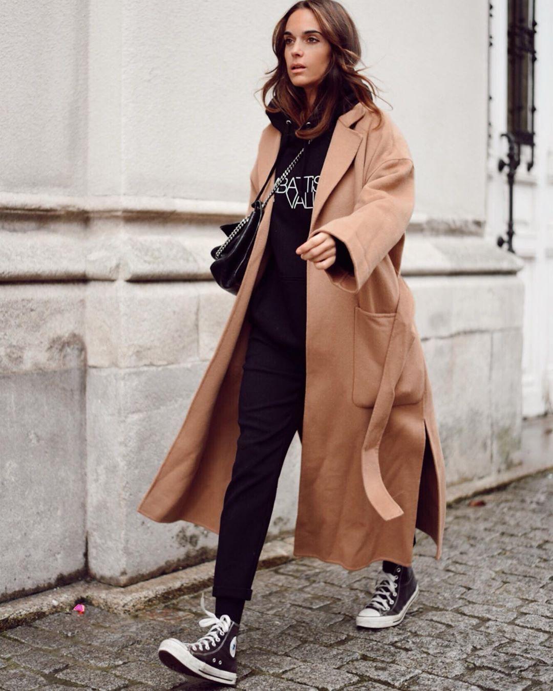 coat with patch pockets de Zara sur mariatilve