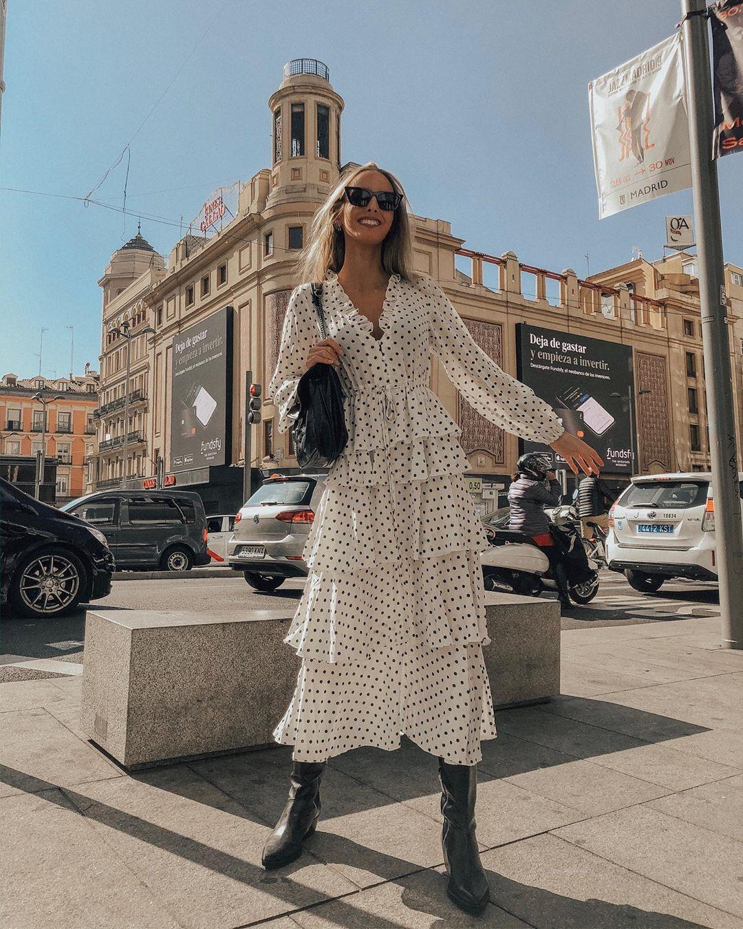 dress with polka dot and ruffles de Zara sur olympiamartin