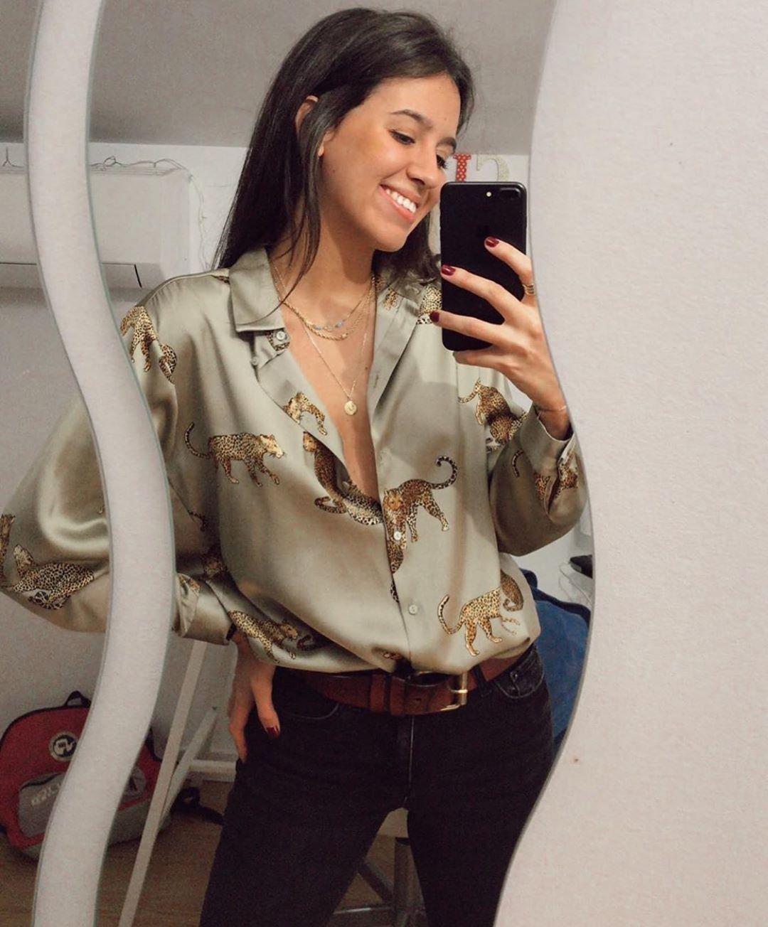 chemise fluide imprimée de Zara sur zara.outfits
