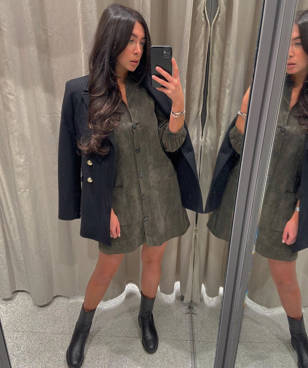 button jacket de Zara sur courtbyafeather