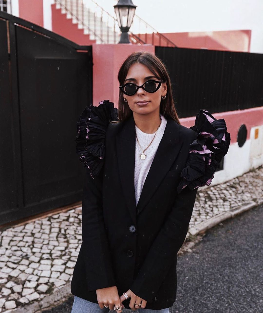 veste à épaules bimatière de Zara sur zara.outfits