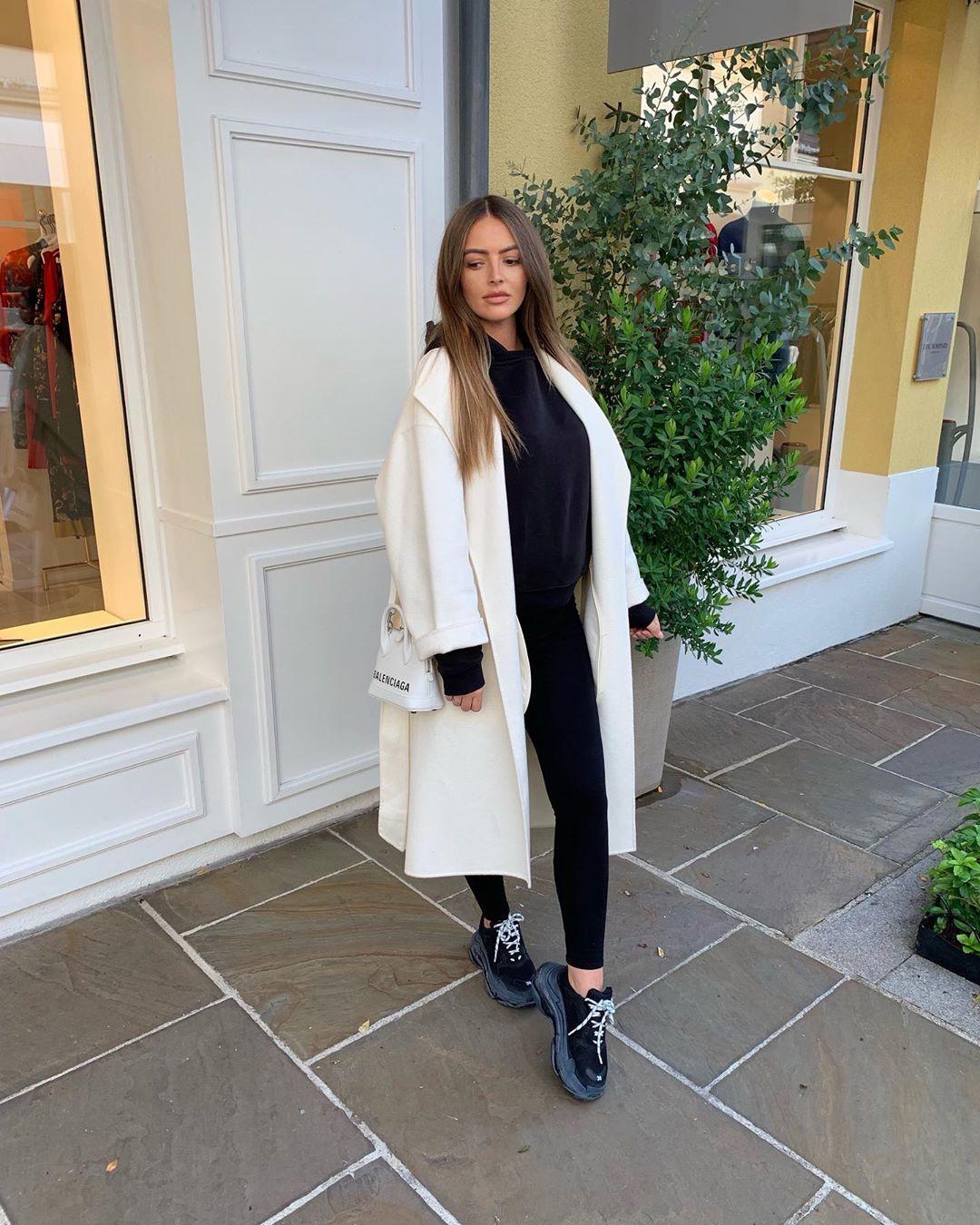 belt coat de Zara sur pauline_cassie
