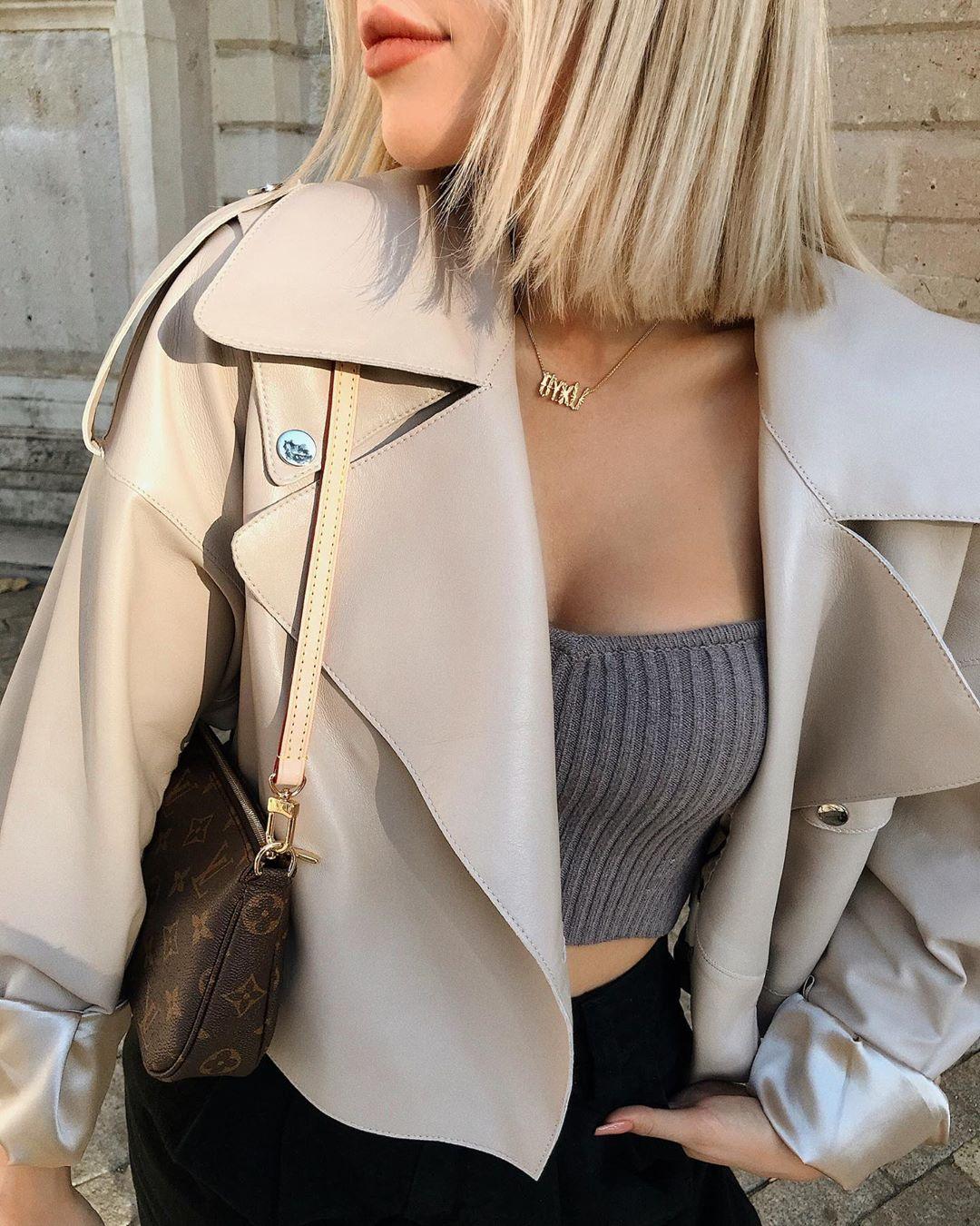 short knit top de Zara sur oykuozguler