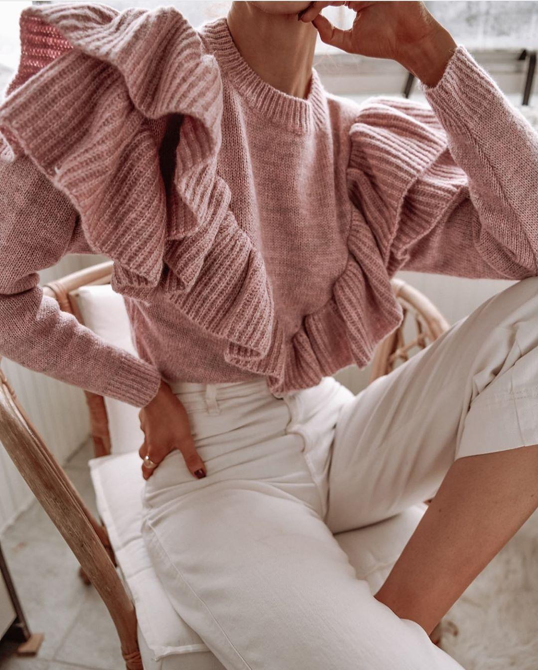pull en maille à volants de Zara sur zara.outfits