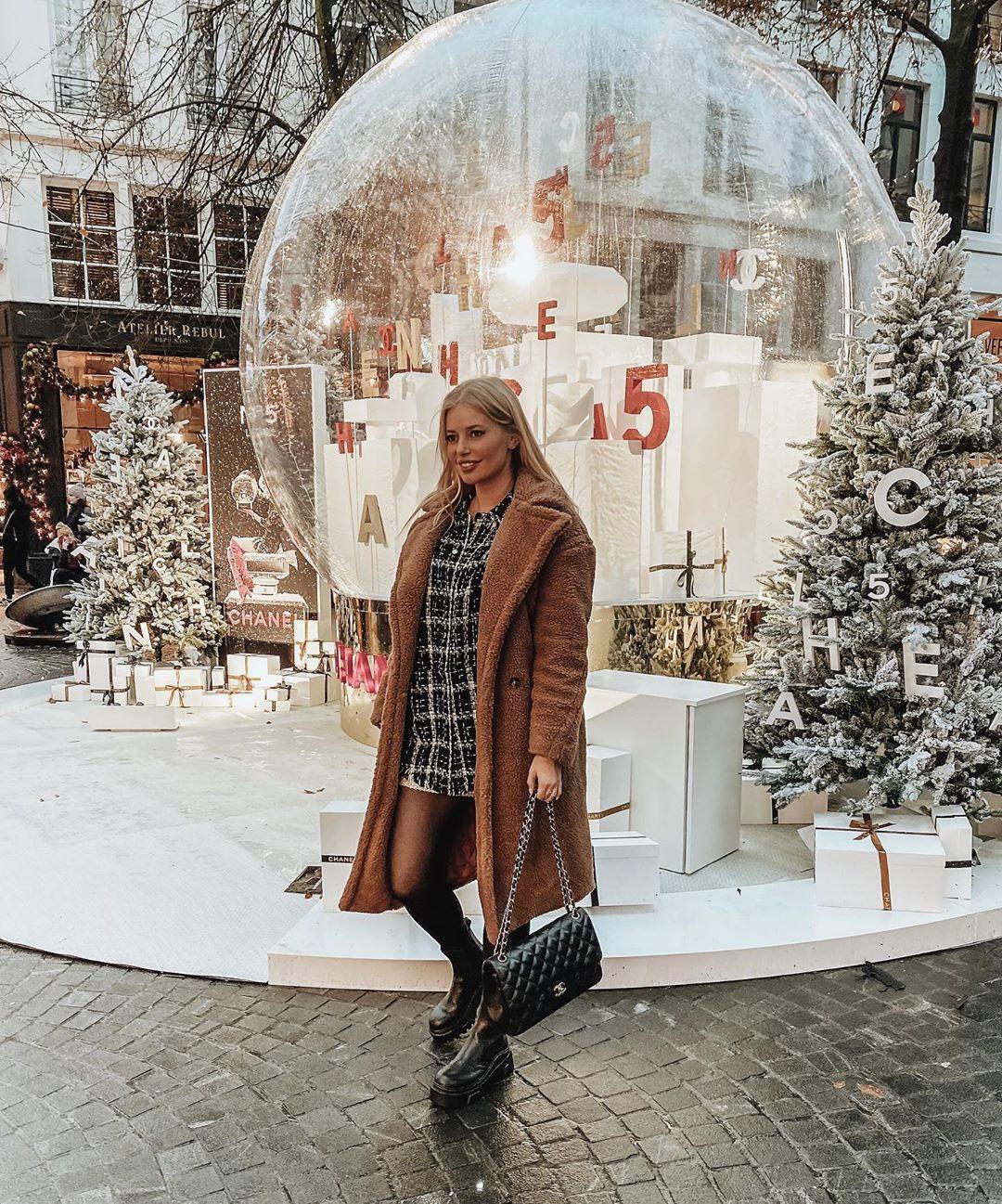 veste en tweed à carreaux de Zara sur annabelpesant