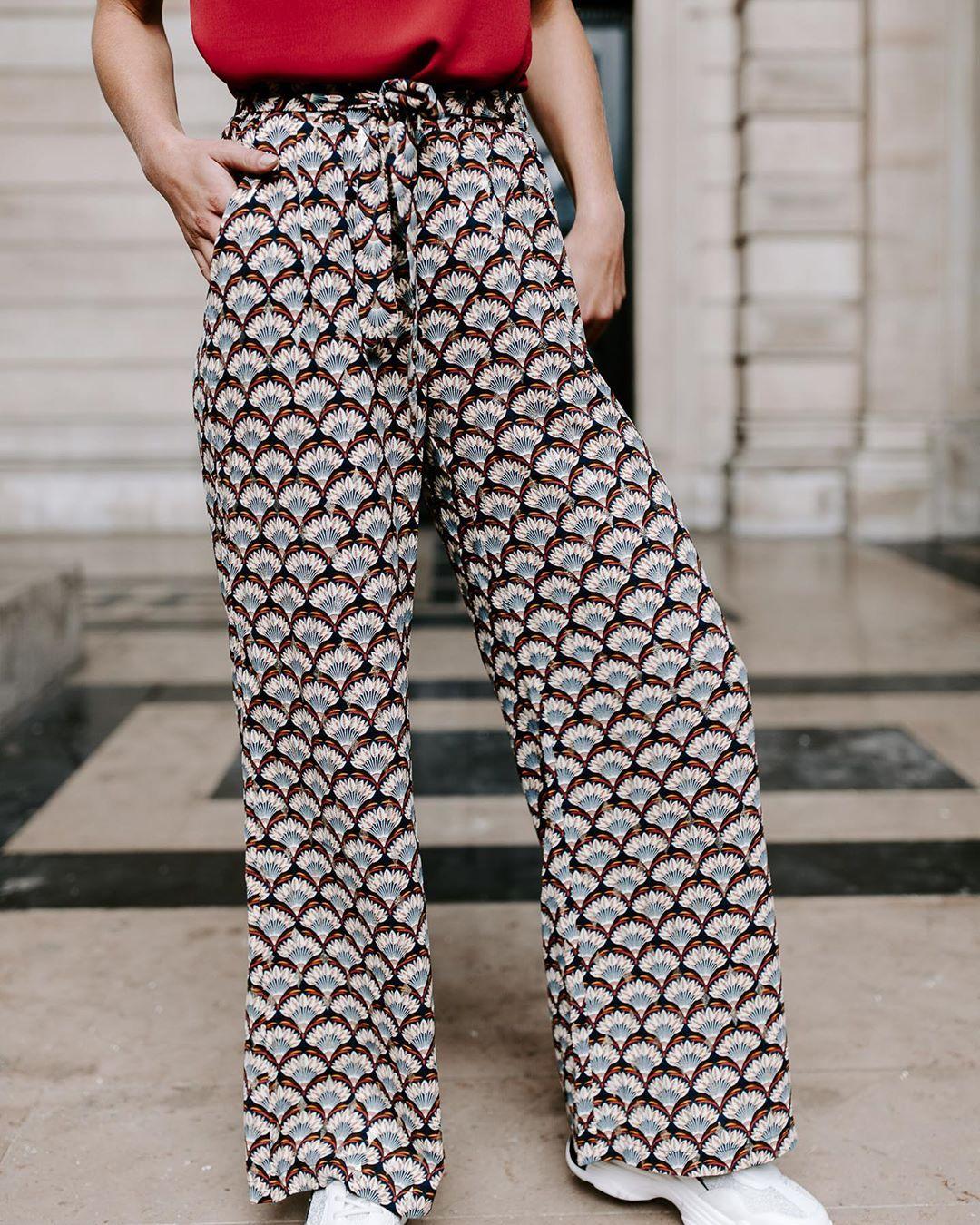 pantalon multi plumes de Les Bourgeoises sur lesbourgeoisesofficiel