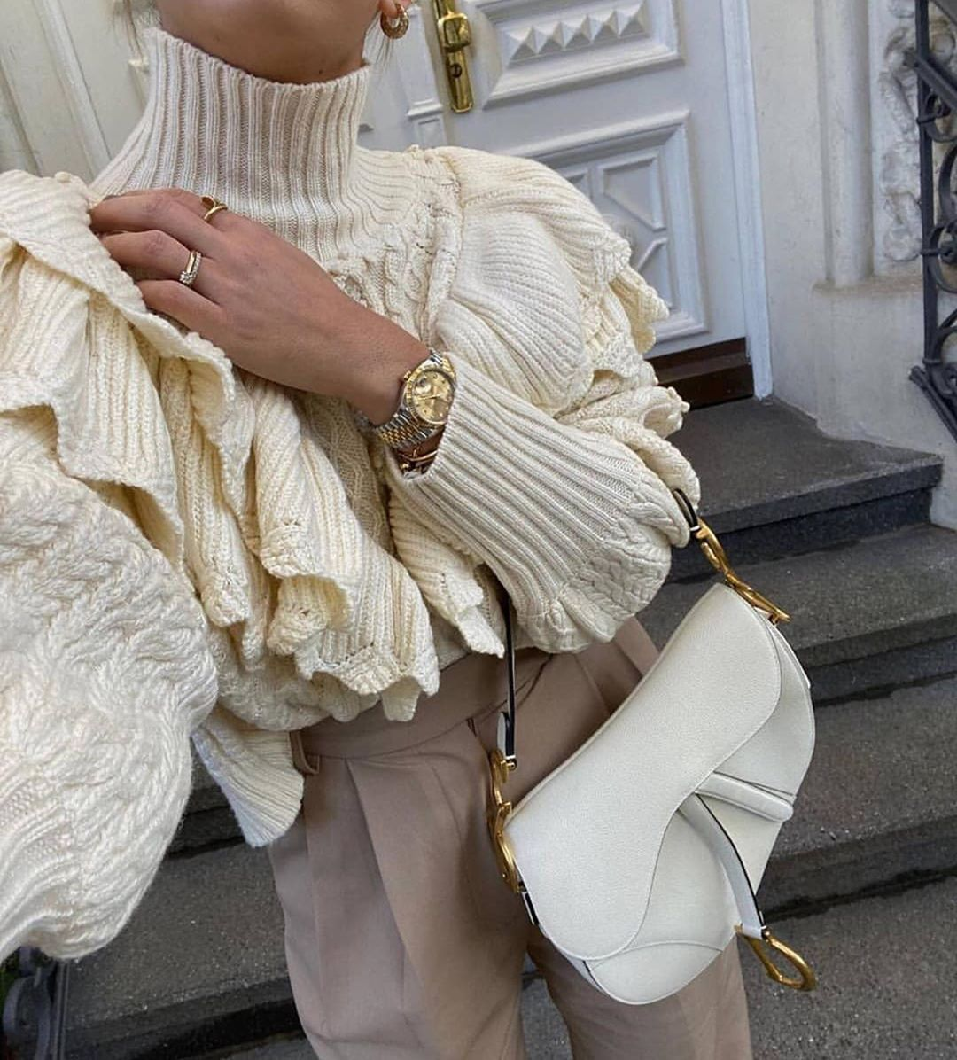 sweater with twists and ruffles de Zara sur fash_adore