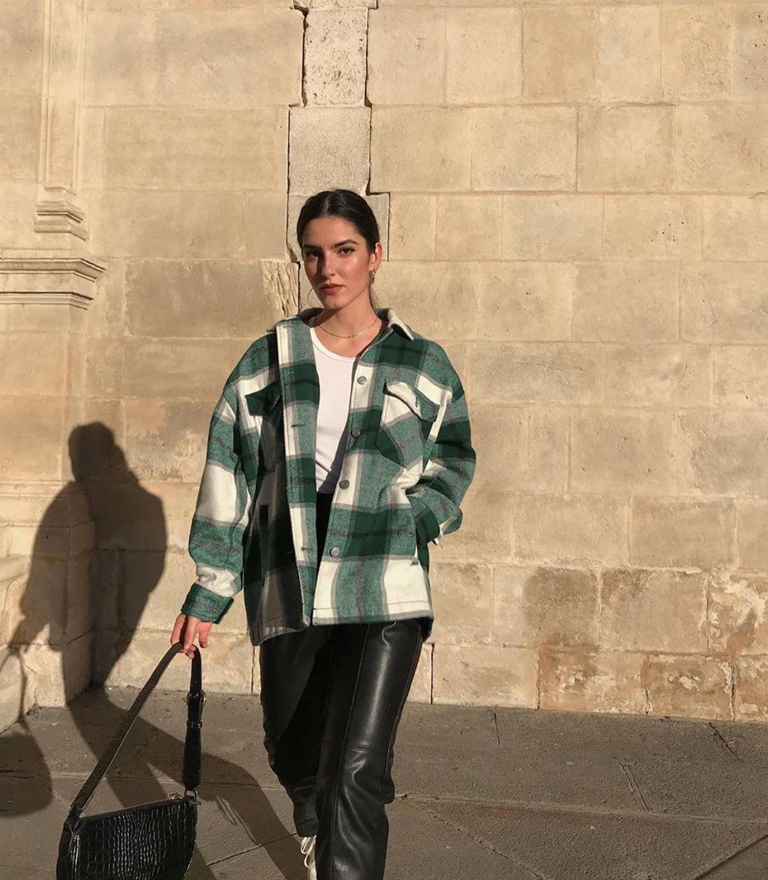 plaid overshirt de Zara sur zaraaddiction