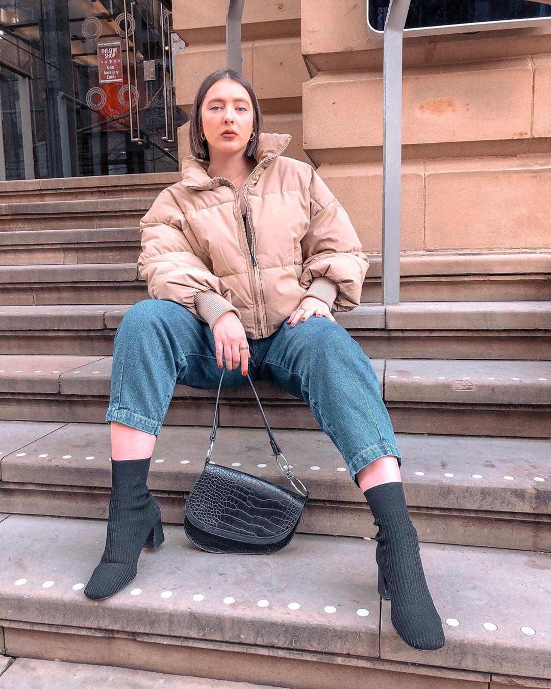 oversize padded jacket de Zara sur rosalindblundell