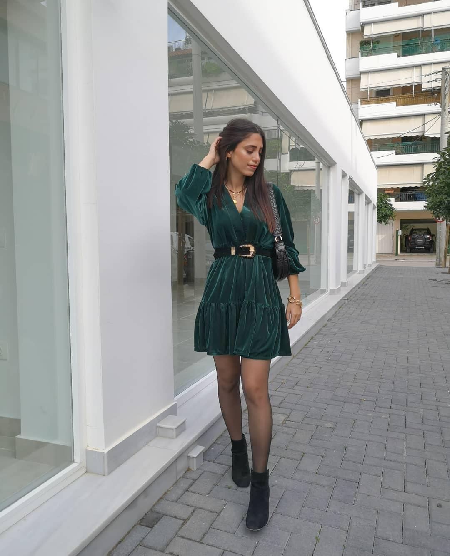 short velvet dress de Zara sur fay_cmm