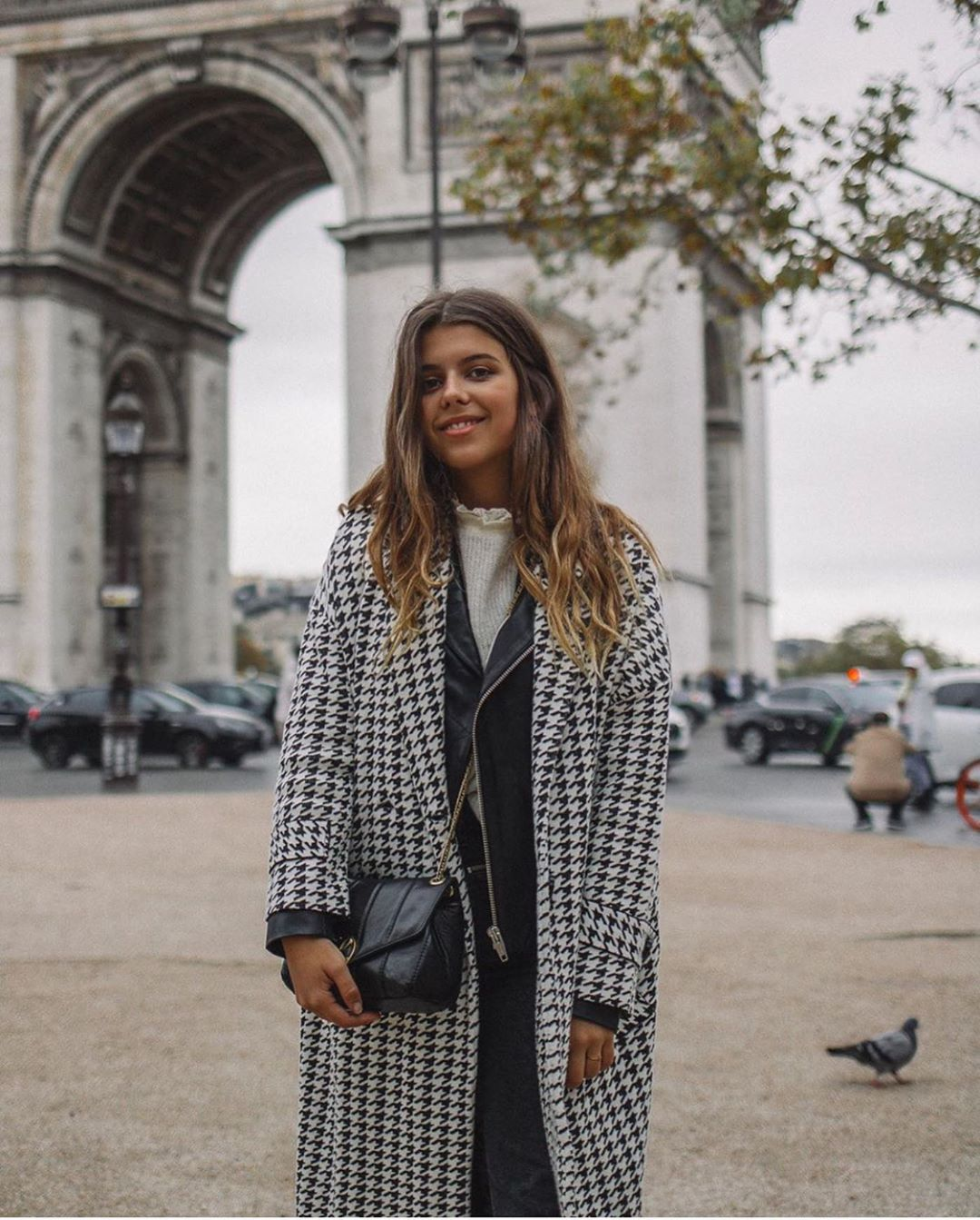 manteau en pied-de-poule de Zara sur zara.outfits