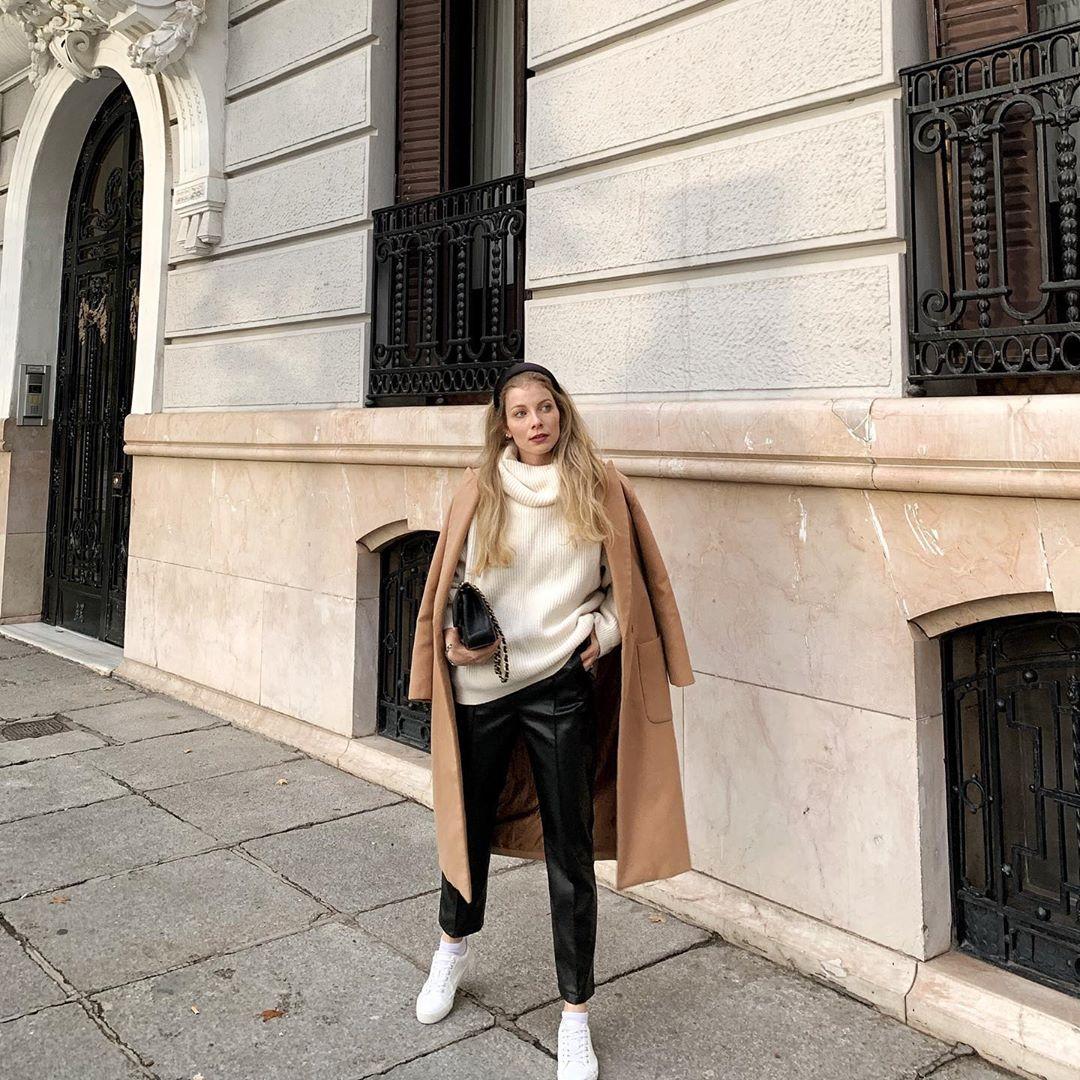 coat with patch pockets de Zara sur sarabottn