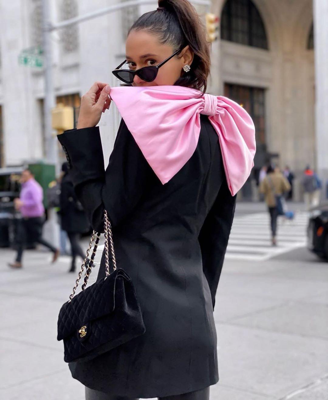 veste robe à nœud bimatière de Zara sur zara.mania
