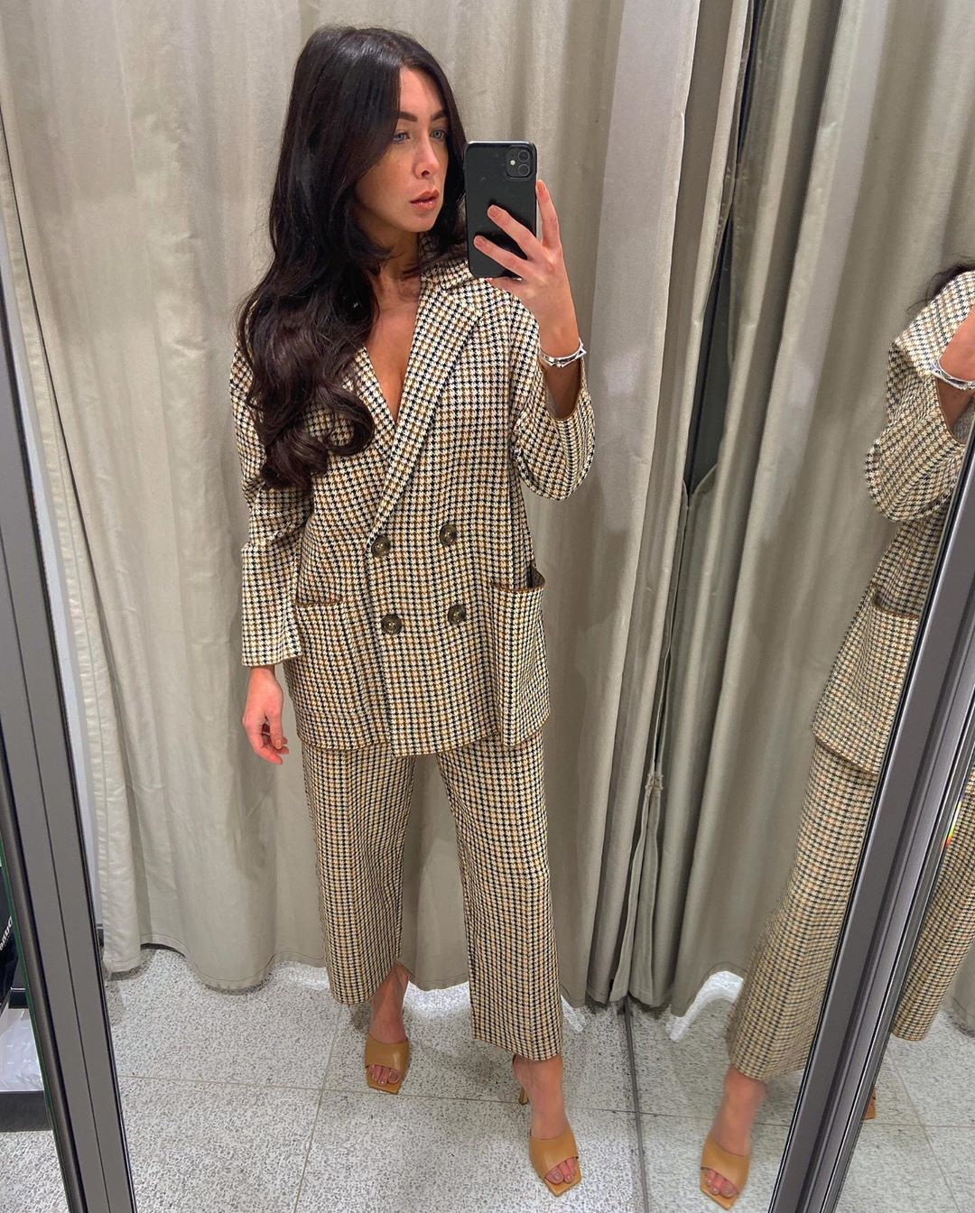 houndstooth knit jacket de Zara sur courtbyafeather