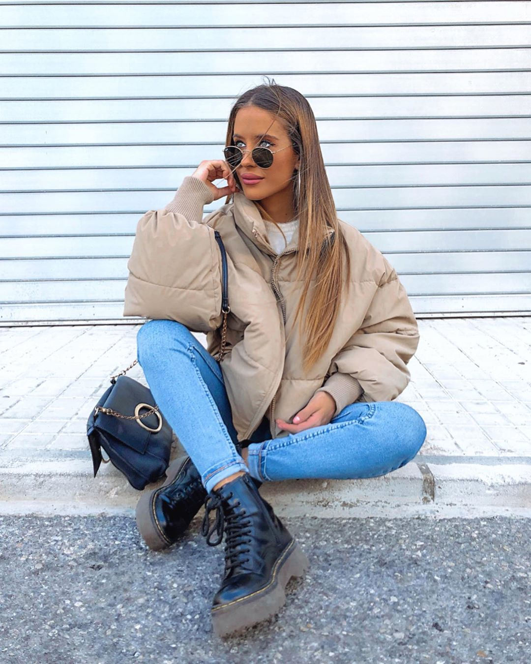 oversize padded jacket de Zara sur beapuche95