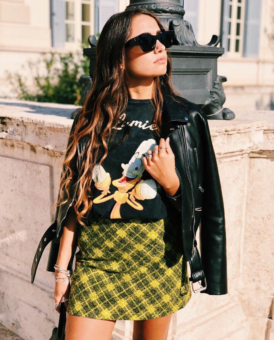 blouson de motard en cuir synthétique de Zara sur zara.outfits