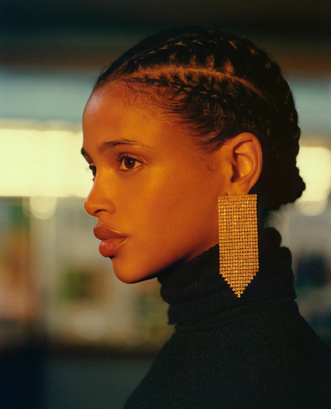 false diamond earrings de Bershka sur bershkacollection