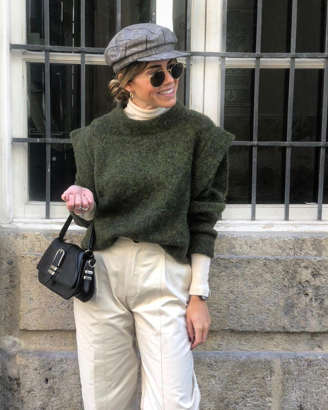oversized knit sweater de Zara sur miriammaestre_