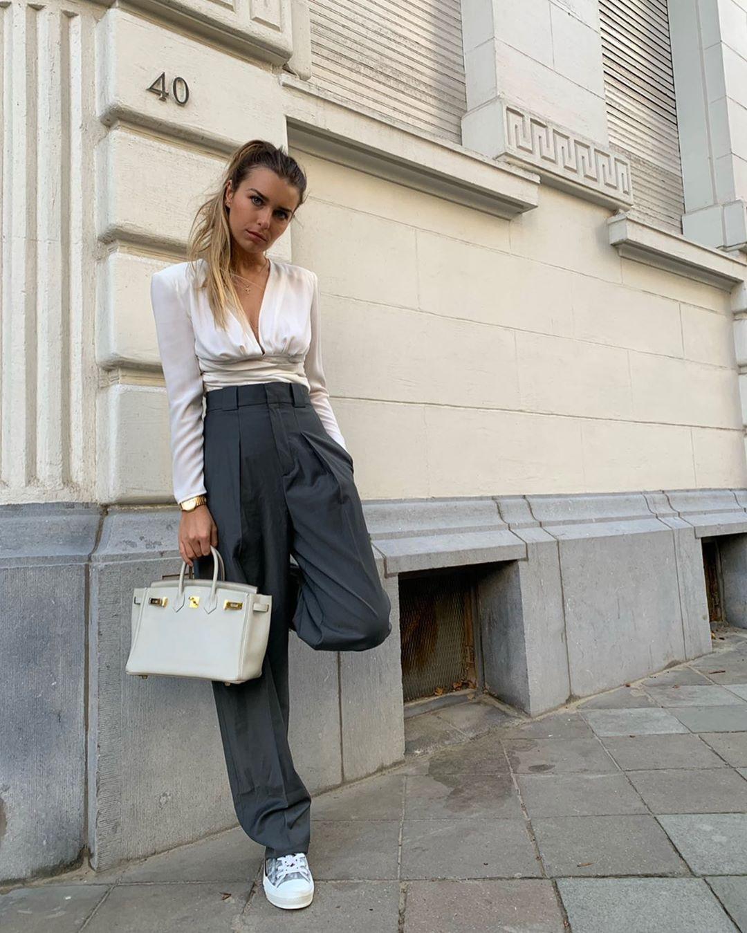 pant with clips de Zara sur florenceolette
